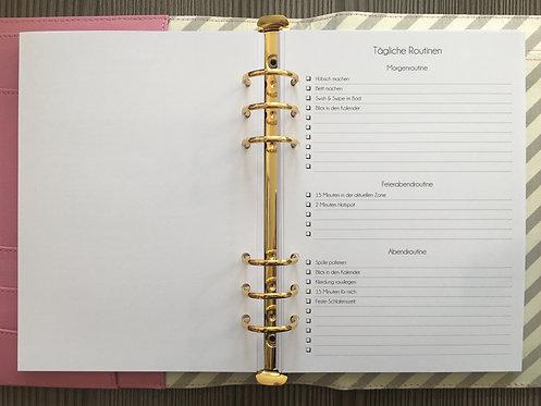 Tägliche Routinen Checkliste A5
