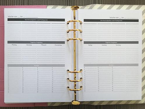 Woche auf 2 Seiten Aufgabenplanung A5