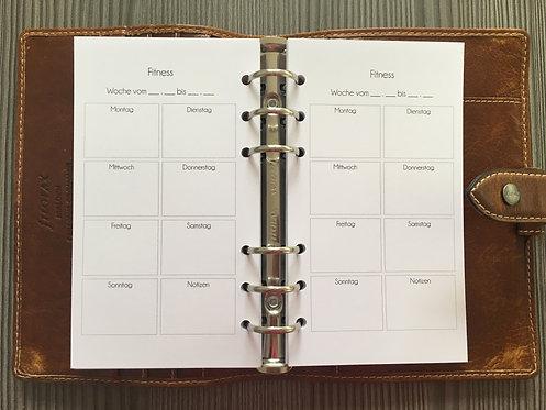 Fitness Wochenplan Personal