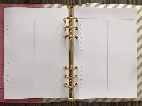 Tagesplan Notizen A5