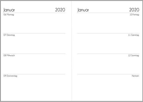Datei: Woche auf 2 Seiten A5 2021