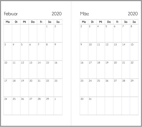Datei: Monat auf 1 Seite Personal 2021