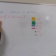 Adição e subtração de polinômios com Algeplan