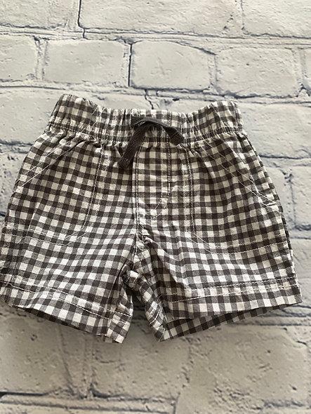 Short à carreaux gris et blanc 3-6