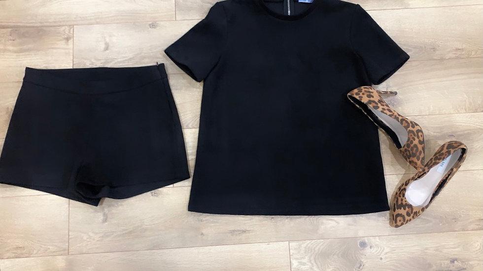 Splendide pantalon Zara effet faux Suède 28