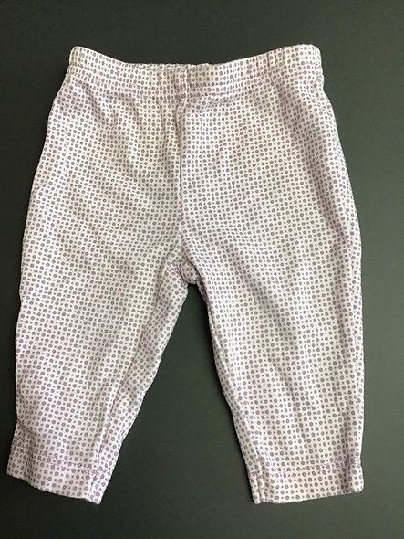 Pantalon à pois lilas 0-3 mois