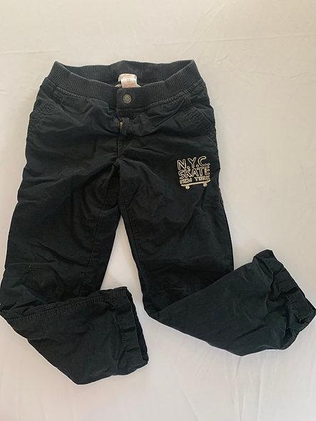 Pantalon noir doublé en coton gris Joe Fresh6-7 ans