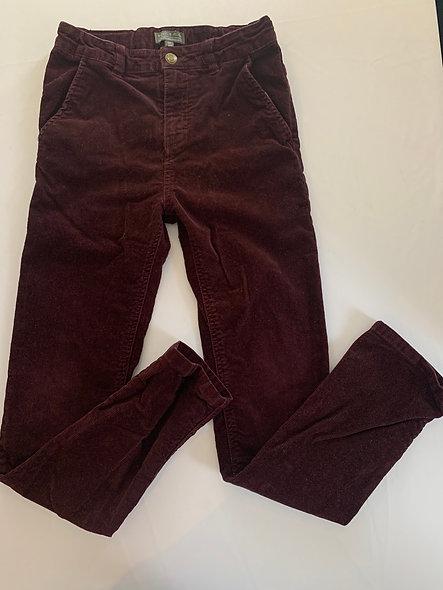 Pantalon bourgogne Souris Mini 12 ans