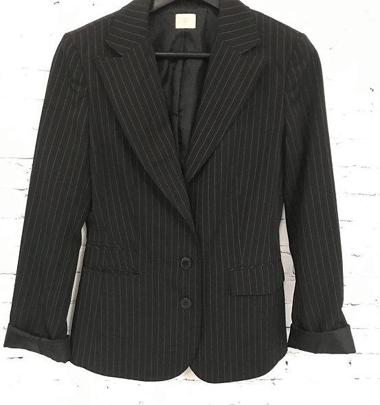 Veston rayé noir et blanc