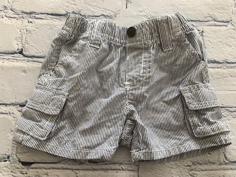 Short rayé avec poches 0-3 mois