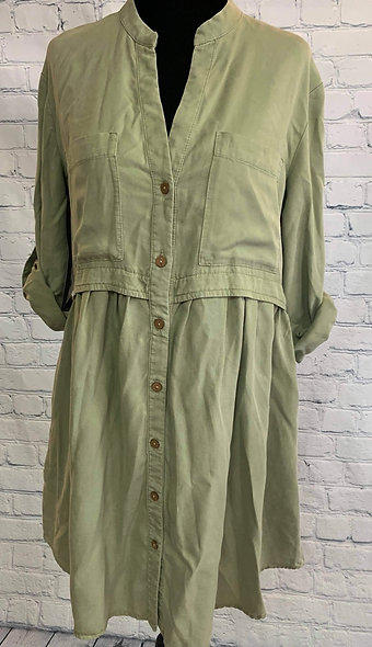 Robe Zara couleur kaki XS