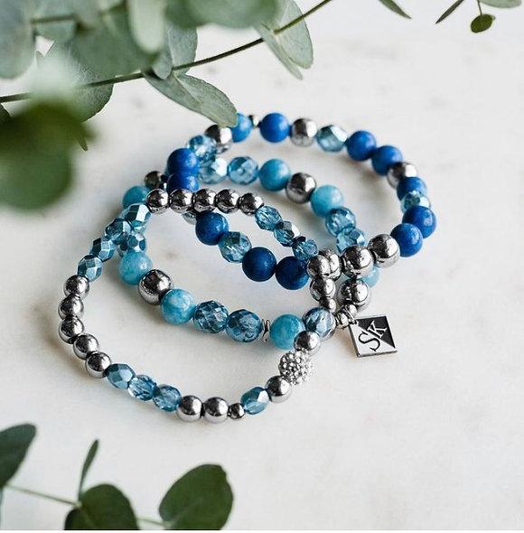 Trio de bracelet bleu jeans