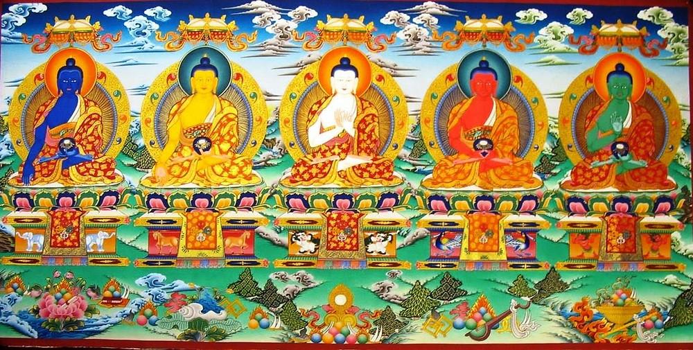 5 familles de Bouddha