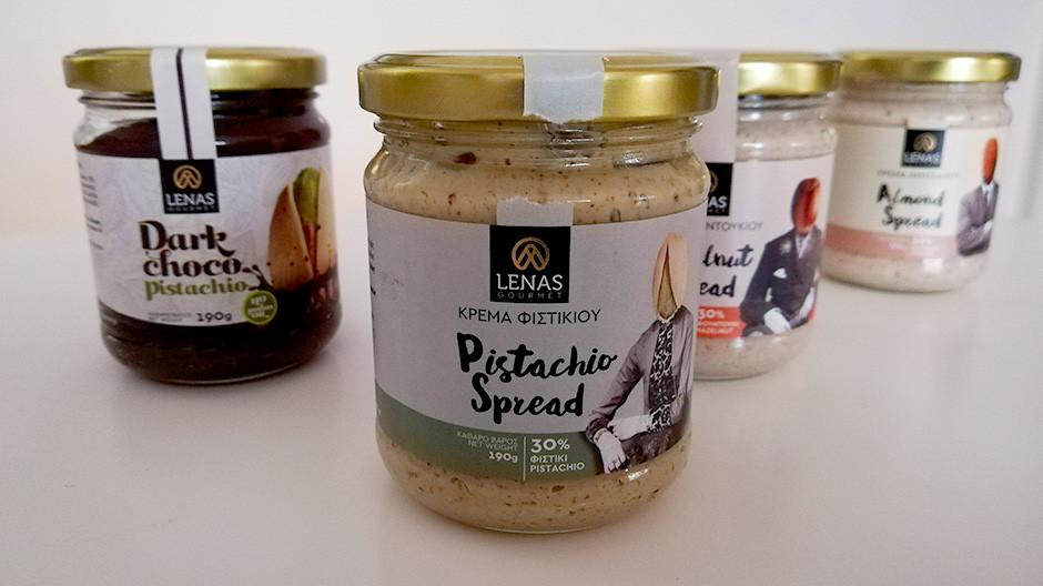 Κρέμα φιστικιού, φουντουκιού, αμυγδάλου και σοκολάτας, Lenas Gourmet