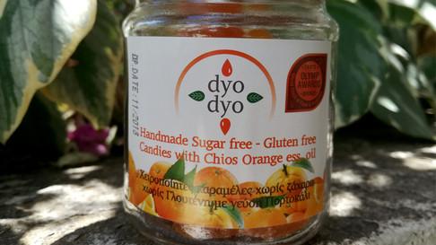 Καραμέλες πορτοκαλιού Χίου, Δυο Δυο