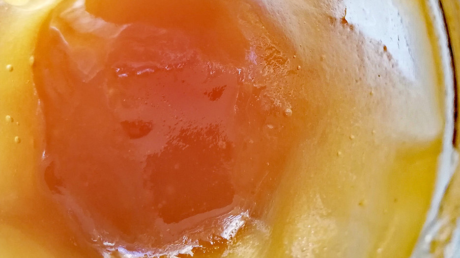pure honey crystalized
