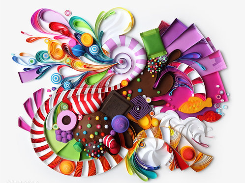 Candies (Candy Crush Inspired artwork)