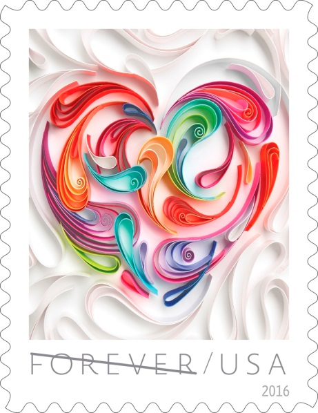 USPS Heart stamp