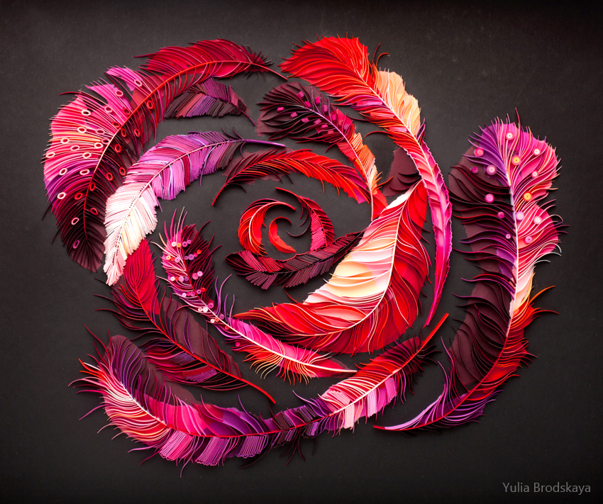Feather Rose