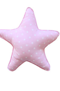 Pink Baby Star Blue Pillow