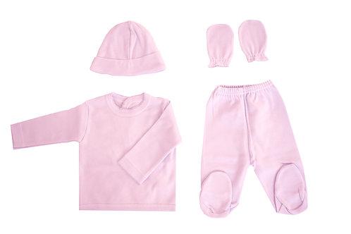 Newborn 4 pieces hospital set-Pink