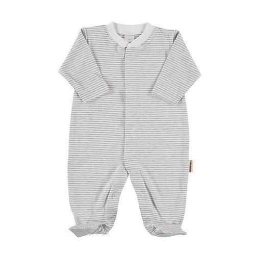 Long Sleeves Stripes Sleeping Suit
