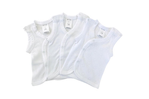 Baby Singlets by Erin. Mix Pack of Three.