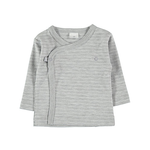 Stripes LS Side Snap-Tee