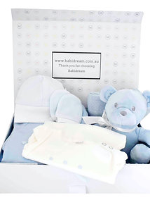 Blue Teddy Gift Box