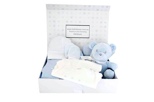 Blue Teddy Gift Box