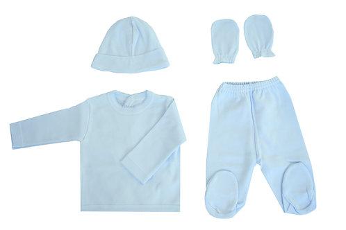 Newborn 4 pieces hospital set- Blue