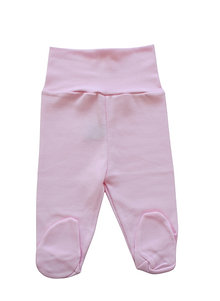 Pink High-waist Baby Footed Pants