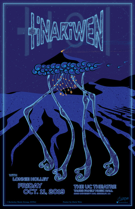 Commemorative gig poster for The UC Theatre