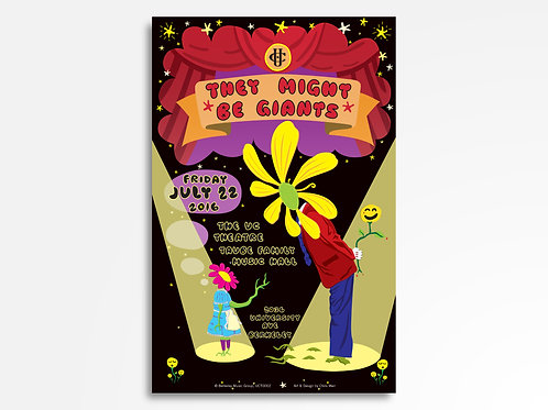 They Might Be Giants Limited Edition Commemorative Poster
