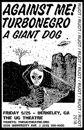 Against Me + Turbonegro w/ A Giant Dog