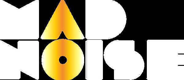 MAD NOISE - 2018 Logo White + Gold - RGB