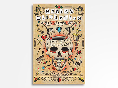 Social Distortion Limited Edition Commemorative Poster