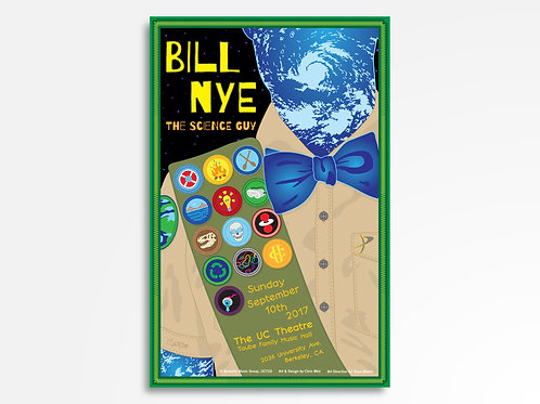 Bill Nye Limited Edition Commemorative Poster