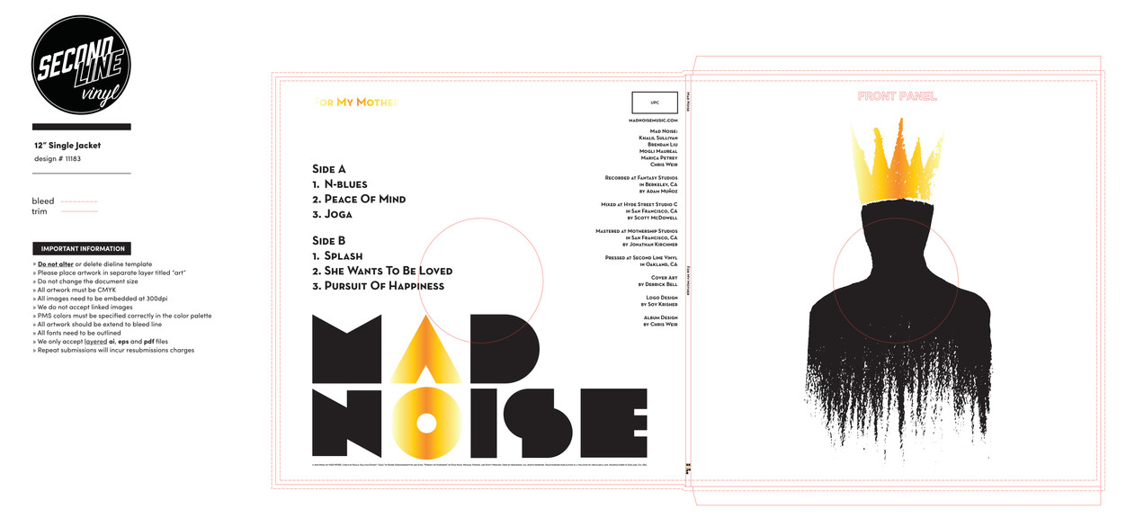 For My Mother – 12 inch – MAD NOISE