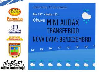 Mini Audax 2018 transferido para 09/12
