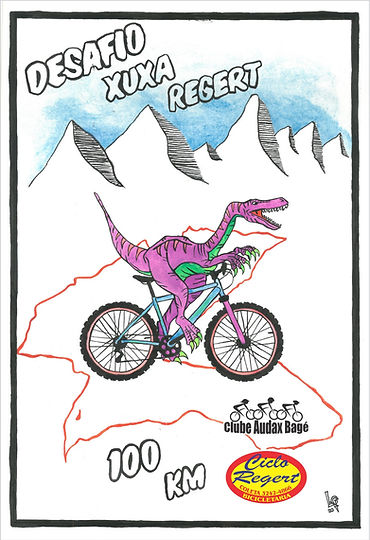 Logo Dinossauro Cartoon Desafio Xuxa Reg