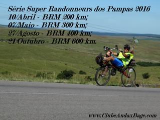 Inscritos BRM 400 km Clube Audax Bagé | Série 2016