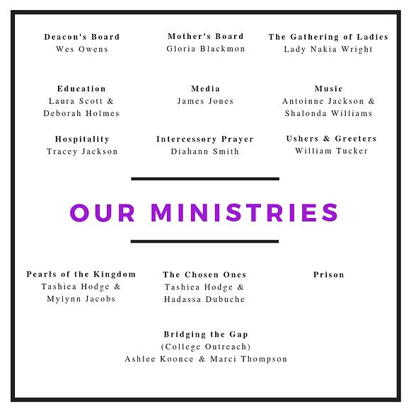 The GAF Ministries - no prison head name