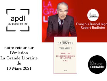 Robert Badinter à la Grande Librairie