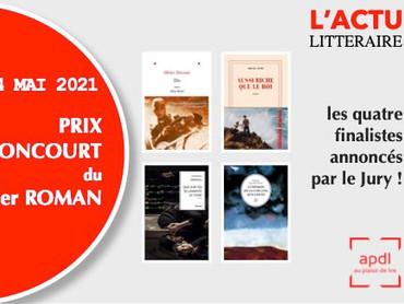 Prix Goncourt du 1er Roman édition 2021 ( 4 Mai 2021 ) – Et les 4 finalistes sont…