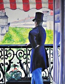 Caillebotte - Mann am Balkon