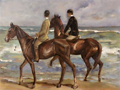 Liebermann - Zwei Reiter am Strand