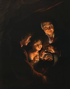 Rubens - Die Alte mit dem Kohlenbecken