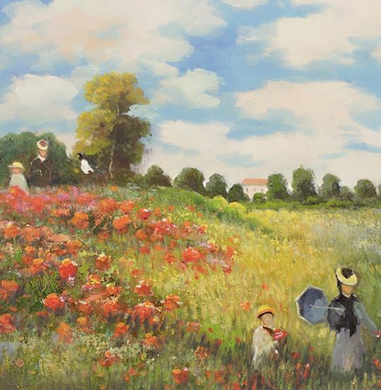 Monet - Mohnfeld bei Argenteuil