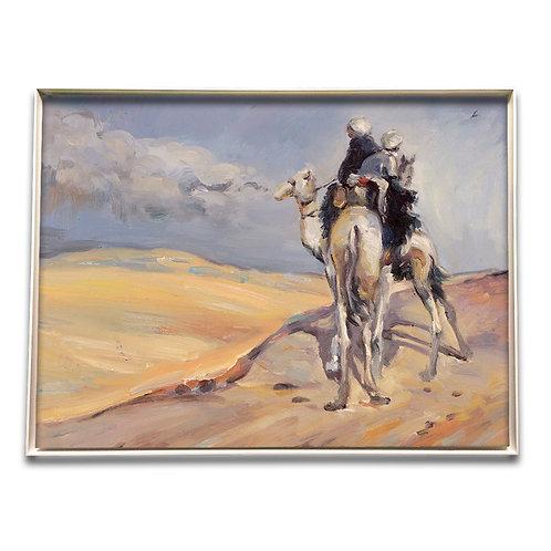 Sandsturm in der libyschen Wüste